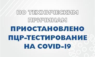 Приостановлено ПЦР тестирование.